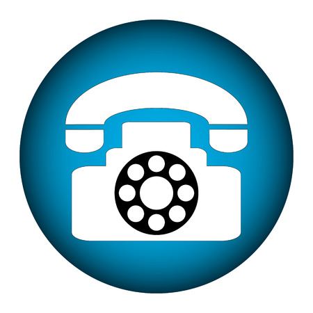 Phone icon button on white background Vector