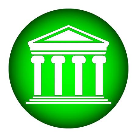 depository: Bank icon on white background.