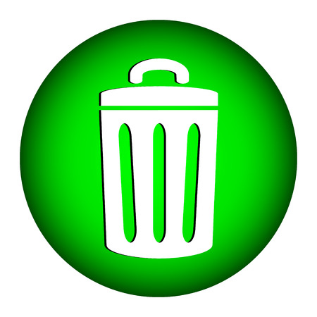 compost: Garbage icon on white background. Illustration