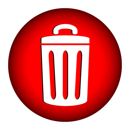 Garbage icon on white background. Vector