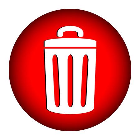 dispose: Garbage icon on white background. Illustration