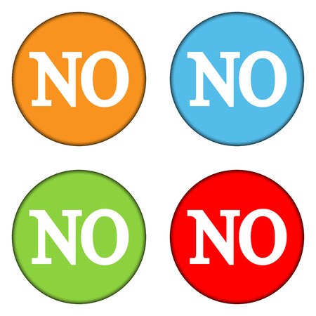 No buttons set on white background Vector