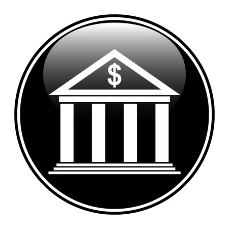 Bank button on white background. Illustration