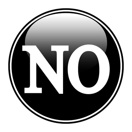 No button on white background Vector