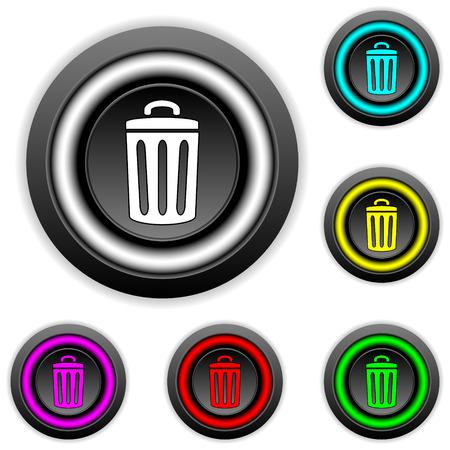kompost: Garbage-Tasten auf wei�em Hintergrund.