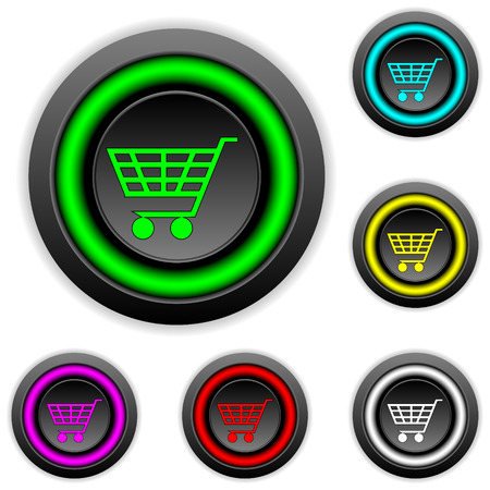 Buy buttons set on white background Vector
