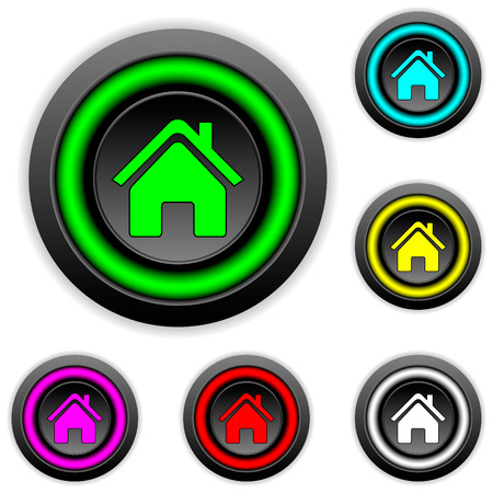 Home buttons set on white background Vector