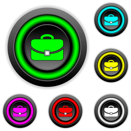Portfolio buttons set on white background Vector