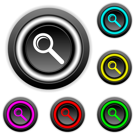 Search buttons set on white backgroud. Vector