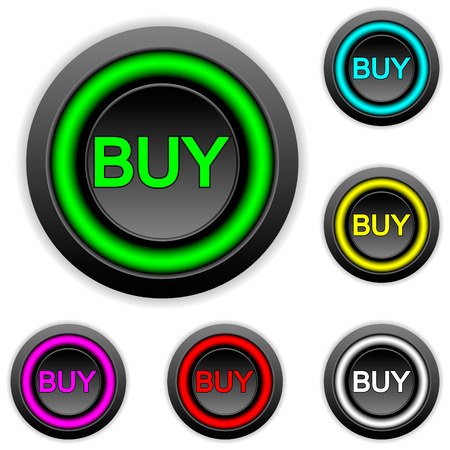 Buy buttons set on white background. Vector