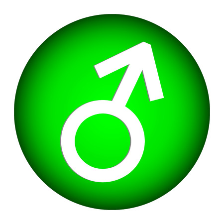 Gender male symbol button on white background. Vector