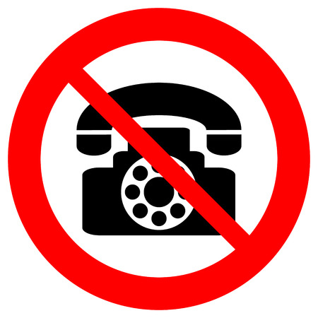 telephony: No phone vector sign on white background. Illustration