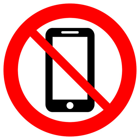 No phone vector sign on white background. Çizim