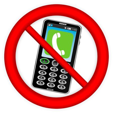 refrain: No phone vector sign on white background. Illustration