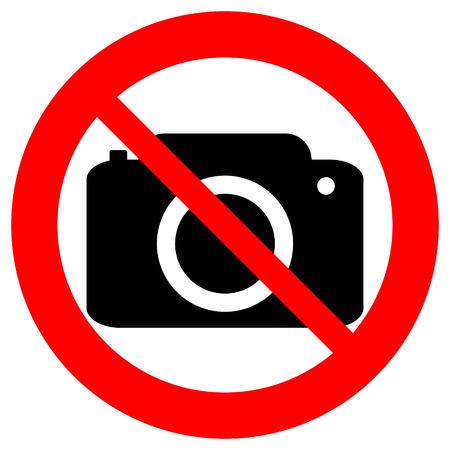 白い背景上に分離されていない写真カメラ ベクトル記号。