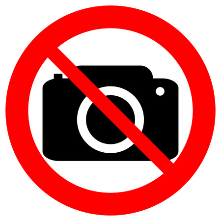 no background: No photo camera vector sign isolated on white background.