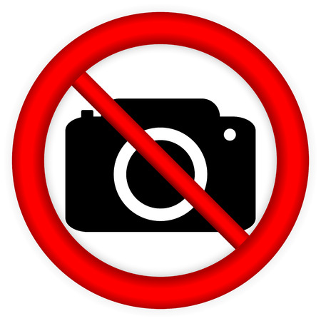 use regulation: No photo camera vector sign isolated on white background.