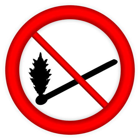 No fire sign icon on white background  Vector