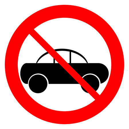 No parking sign icon on white background  Vector