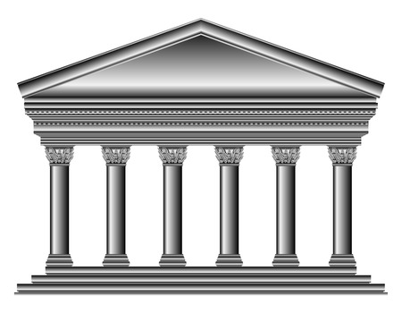 Corinthian temple isolated on white background. Stock Vector - 27294720