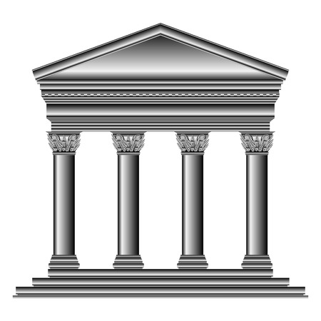 Corinthian temple isolated on white background. Stock Vector - 27294724