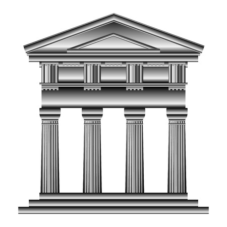 Doric temple isolated on white background. Stock Vector - 27294725