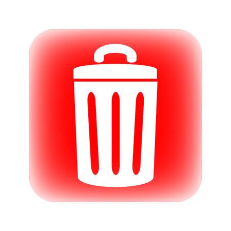 kompost: Garbage-Taste auf wei�em Hintergrund.