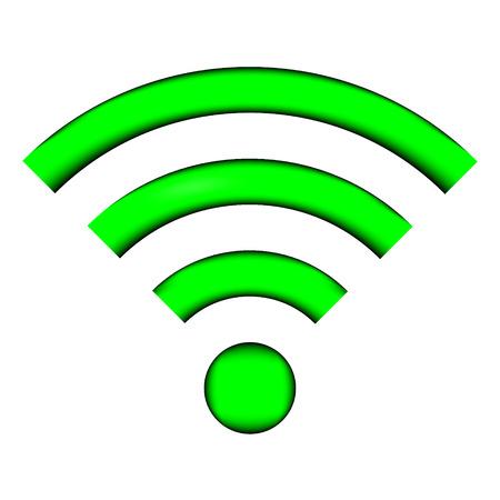 icono wifi: Icono de WiFi en el fondo blanco - ilustraci�n vectorial.