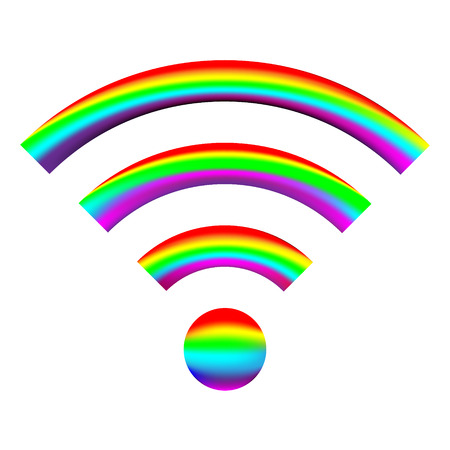 WiFi Icon on white background - vector illustration. Vector