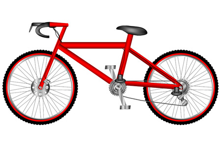 Race road bike isolated on white background. Vector