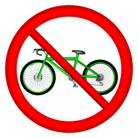 No bicycle sign icon on white background. Vector