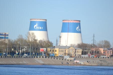 St.Petersburg, Russia - April 23, 2014: Industrial outskirts of St. Petersburg Redakční