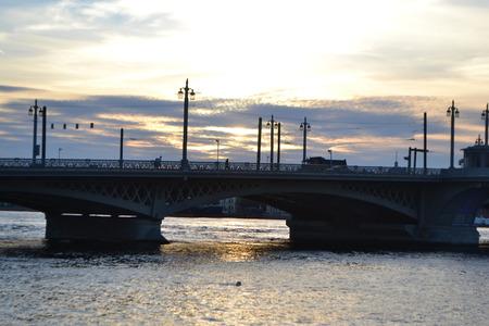 blagoveshchensky: Annunciation Bridge at sunset, St.Petersburg, Russia.