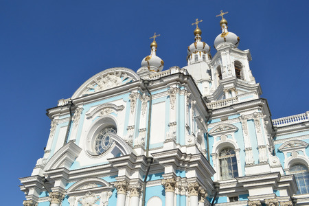 Smolny Cathedral of the Resurrection of Smolniy monastery, St.Petersburg, Russia. photo