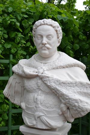 sobieski: Statue of John Sobieski in Summer Garden, St.Petersburg, Russia.