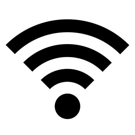 wifi access: WiFi icon on white background - vector illustration.