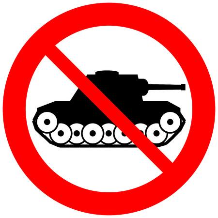 No war sign on white background.