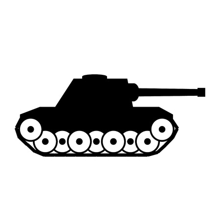 turret: Panzer icon on white background.