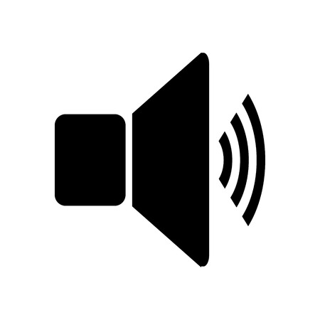 Speaker volume icon on white. Illustration