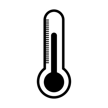celsius: Thermometer icon on white background. Illustration