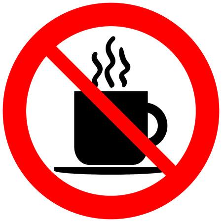 白い背景の上のコーヒー カップ兆候はないです。