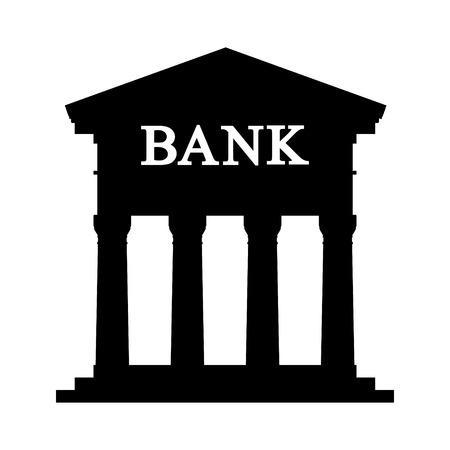 depository: Bank icon on white background - vector illustration. Illustration