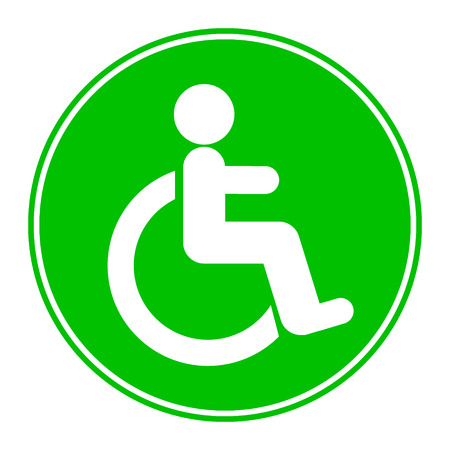 Disabled icon sign on white background.
