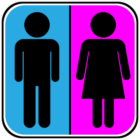 Male and Female icons on white background. Vector