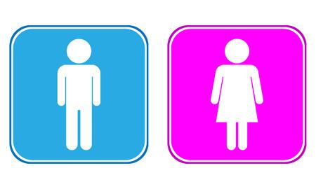 Mannelijke en Vrouwelijke knoppen op een witte achtergrond.
