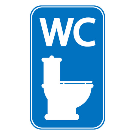 Toilet sign on white background. Vector