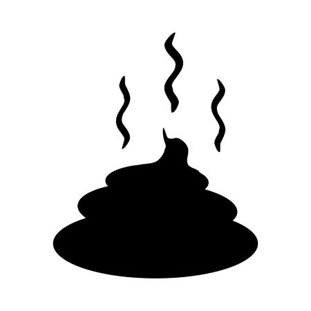 dung: Shit icon on white background.