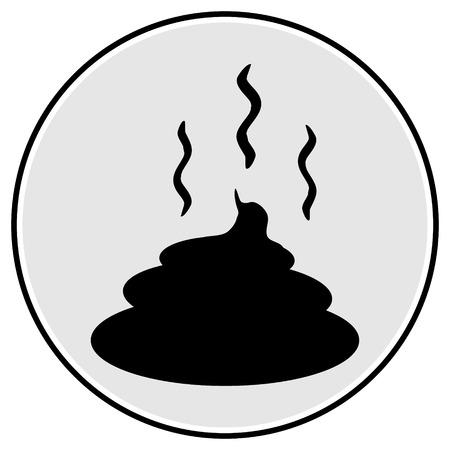 shit: Shit icon on white background.