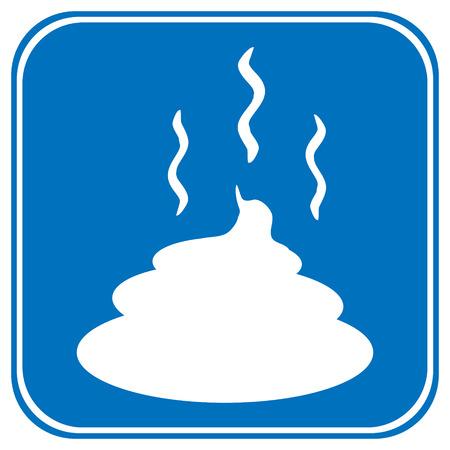 muck: Shit icon on white background.