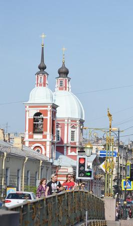 panteleimon: St.Petersburg, Russia - May 19, 2014: Church of the Holy Great Martyr and Healer Panteleimon - Orthodox parish church in St. Petersburg.